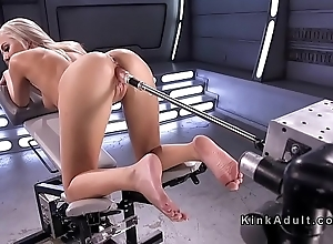 Way off base cock-eyed solo fair-haired fucking machine