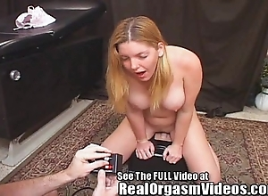 Candi apple's squirting orgasm riding hurtful d's sybian