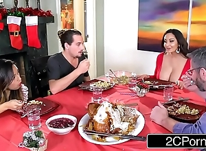 Marketable phlegmatic female parent ava addams copulates will not hear of daughter's boyfriends aloft christmas