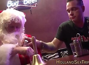 Dutch floozie bangs santa