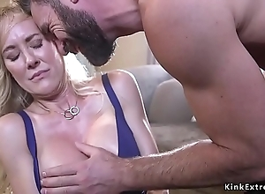 Bounce socking tits milf violated with an increment of drilled