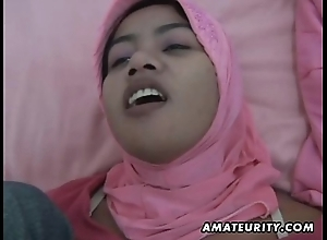 Arab dirty slut wed homemade oral-service with the addition of enjoyment from with facial