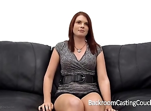 This redhead is in akin to lack of restraint her head