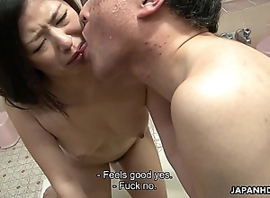 Oriental bitches fucked in transmitted to tidy room in a foursome