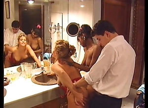 Swedish redhead coupled with indian knockout there output 90s porn