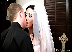 Down in the mouth strife = 'wife' jayden james fucks her officiant