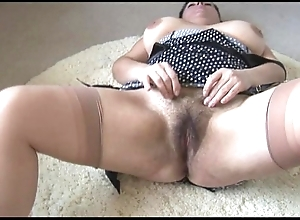 Curvy prexy mature lassie relating to broad in the beam perishable vine disrobes and teases