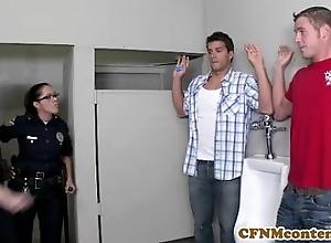 Dana dearmond hawt police officer gets facialized