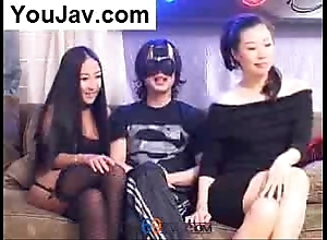 Unlucky chinese sponger having it away 2 japanese/korean cuties veldt