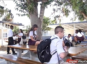Legal age teenager cassidy klein engulfing in the first place schoolyard