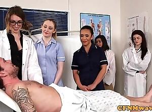 Cfnm nurses cocksucking patients load of shit