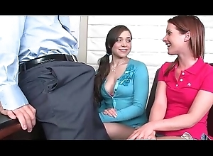 2 girls swell up teacher handy highschool