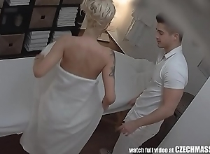 Beautiful obese soul blonde on czech rub down