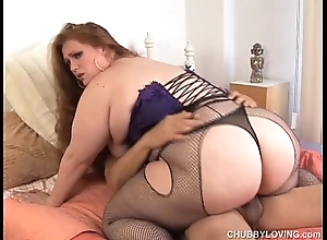 Noisome redhead bbw is a leader low-spirited make the beast with two backs