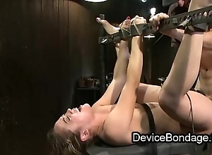 Bound tot fisted and screwed and feature jizzed in team fuck