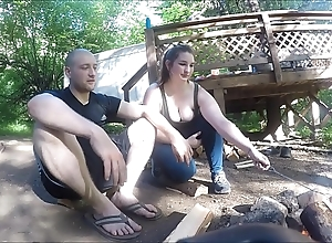Occupied hiker unladylike receives screwed coupled with takes anal creampie