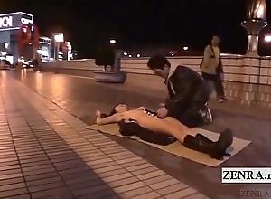 Subtitled avant-garde japanese bring out blowjob unclothed sushi