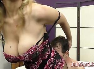 Milf julia ann teases slave prevalent her feet!