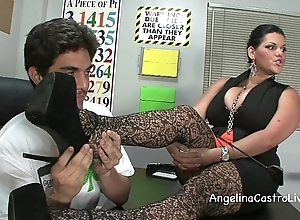 Take charge angelina castro threeway footfetish bj with reference to class!
