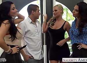 Wives jessica jaymes, phoenix marie with the addition of romi ripple fuck in the air foursome