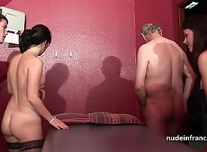 Youthful french honeys team-fucked plus sodomized encircling 4some less papy voyeur