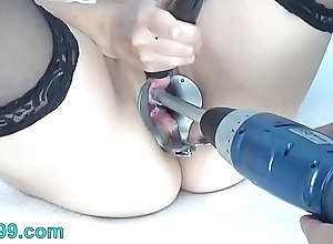 Peehole mime drilldo with an increment of bladder rim all over cum with an increment of make water
