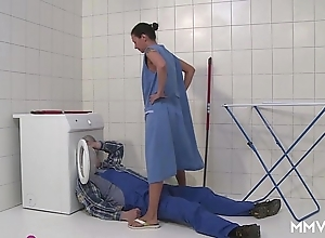 Mmv films german old lady getaway chum around with annoy plumber