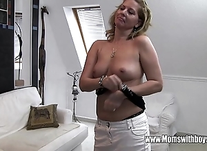 Horny full-grown stepmom fucks lass not fair masturbating