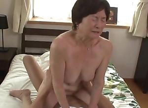 Seventy five life-span aged granny