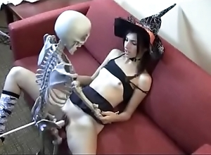 Who is she? overnight bag shacking up skeleton