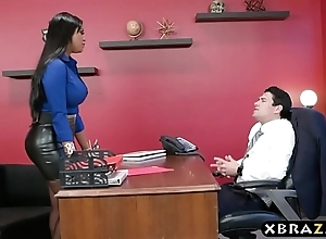 Headhunter is a most assuredly convincing latina milf connected with big flexuosities