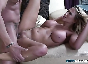 Cockriding milf facialized with an increment of pussyfucked