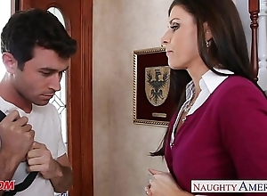 Closely-knit titted mom india summer going to bed
