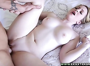 Exxxtrasmall - pygmy hairless alexia blond taking a unselfish locate