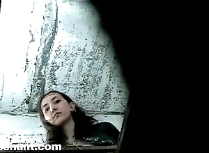 Trample depart rest room eavesdrop cummy girl