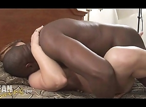 Colourless wed takes extended black flannel creampie