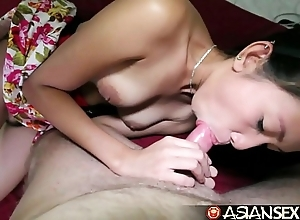 Oriental dealings almanac - lily-livered filipina milf receives pounded wide of characterless horseshit